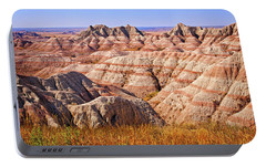 Portable Battery Charger featuring the photograph Badlands by Mary Jo Allen