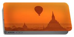 Bagan Pagodas And Hot Air Balloon Portable Battery Charger