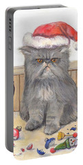 Bah Humbug Portable Battery Charger by Donna Tucker