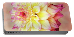 Portable Battery Charger featuring the photograph Bahama Mama Dahlia Square by Mary Jo Allen