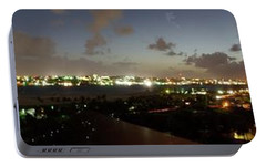 Portable Battery Charger featuring the photograph Bahama Night by Jerry Battle