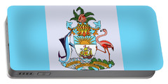 Portable Battery Charger featuring the drawing Bahamas Coat Of Arms by Movie Poster Prints