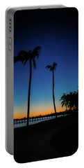 Bahamas Palm Trees In The Early Morning Portable Battery Charger