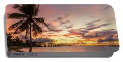 Bahia Honda State Park Sunset Portable Battery Charger
