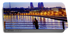 Portable Battery Charger featuring the photograph Baku Pier by Fabrizio Troiani