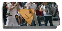 Portable Battery Charger featuring the photograph Balalaika Trio - Take Five by Harvey Barrison
