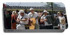 Portable Battery Charger featuring the photograph Balalaika Trio - Take Three by Harvey Barrison