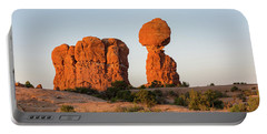 Balanced Rock In The Morning Portable Battery Charger