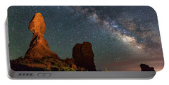 Balanced Rock And Milky Way Portable Battery Charger