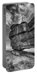 Balanced Rock Monochrome Portable Battery Charger