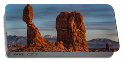 Balanced Rock Sunset Portable Battery Charger