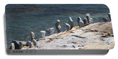 Balanced Rocks Portable Battery Charger by Living Color Photography Lorraine Lynch