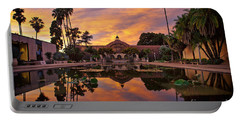 Balboa Park Botanical Building Sunset Portable Battery Charger by Sam Antonio Photography