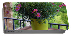 Portable Battery Charger featuring the photograph Balcony Flowers by Susanne Van Hulst