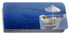 Balcony Over The Sea Portable Battery Charger