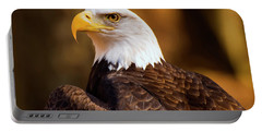 Bald Eagle 2 Portable Battery Charger by Chris Flees