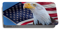 Bald Eagle And American Flag Portable Battery Charger