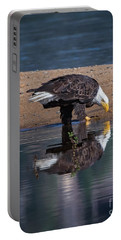 Bald Eagle And Reflection Portable Battery Charger
