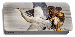 Portable Battery Charger featuring the photograph Bald Eagle/blue Heron by Norman Hall