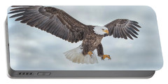 Bald Eagle Blue Sky Portable Battery Charger by CR Courson