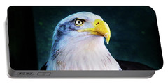 Bald Eagle Close Up Portable Battery Charger