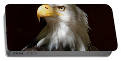 Bald Eagle Closeup Portrait Portable Battery Charger