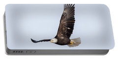 Bald Eagle Flying Over Horicon Marsh Portable Battery Charger