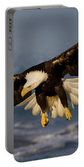 Bald Eagle In Action Portable Battery Charger