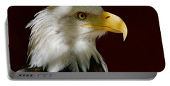 Bald Eagle - Majestic Portrait Portable Battery Charger