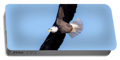 Bald Eagle Overhead  Portable Battery Charger by Ricky L Jones