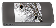 Portable Battery Charger featuring the photograph Bald Eagle Pair by Will Borden