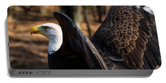 Bald Eagle Preparing For Flight Portable Battery Charger