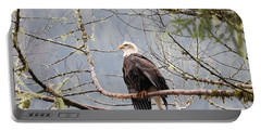 Bald Eagle Resting Portable Battery Charger