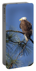 Bald Eagle Portable Battery Charger by Sally Weigand