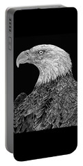 Bald Eagle Scratchboard Portable Battery Charger