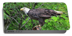 Bald Eagle Sitting Pretty Portable Battery Charger