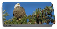 Bald Eagle Sunbathing Portable Battery Charger