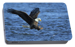 Portable Battery Charger featuring the photograph Bald Eagle Talons Up by Coby Cooper