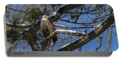 Bald Eagle Watching Her Domain Portable Battery Charger