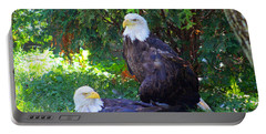 Bald Eagles Portable Battery Charger by Michael Rucker
