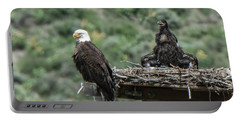 Bald Eaglet Cooling Off On A Hot Spring Day Portable Battery Charger