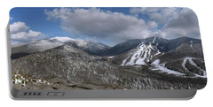 Bald Mountain Winter Panorama Portable Battery Charger