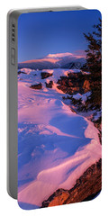 Bald Mountain Winter Sunset Portable Battery Charger