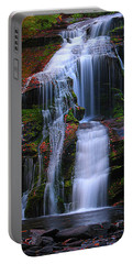 Bald River Falls Portable Battery Charger by Elijah Knight