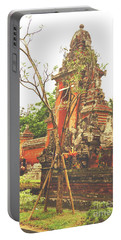 Portable Battery Charger featuring the photograph Balinese Temple Gates by Cassandra Buckley