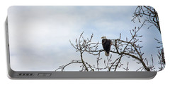 Portable Battery Charger featuring the photograph Balk Eagle by Rebecca Cozart