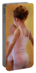 Ballerina In Pink Portable Battery Charger