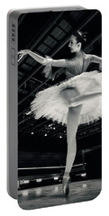 Portable Battery Charger featuring the photograph Ballerina In The White Tutu by Dimitar Hristov