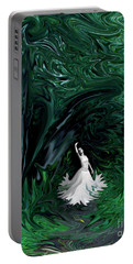 Portable Battery Charger featuring the photograph Ballerina In Wonderland by Rebecca Margraf