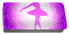 Ballerina Purple And Pink Portable Battery Charger